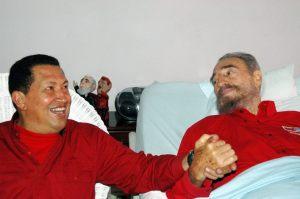 Venezuelan President Chavez meets his Cuban counterpart Castro in Havana