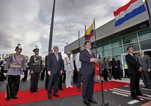Bandera del Paraguay Ecuador. 2014.