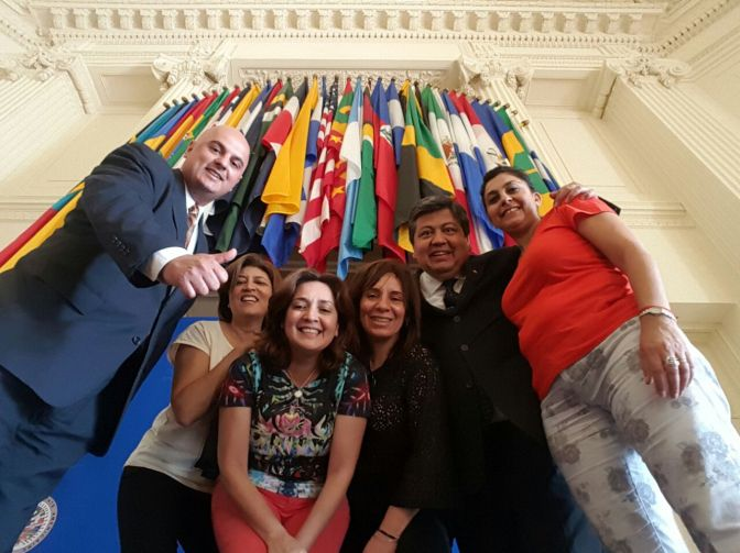 Visit from UNSE Facultad de Ciencias Exactas y Tecnologicas to OEA (Julio, 2016)