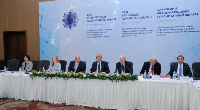 Baku International Humanitarian Forum discusses the role of media in inter-civilizational dialogue
