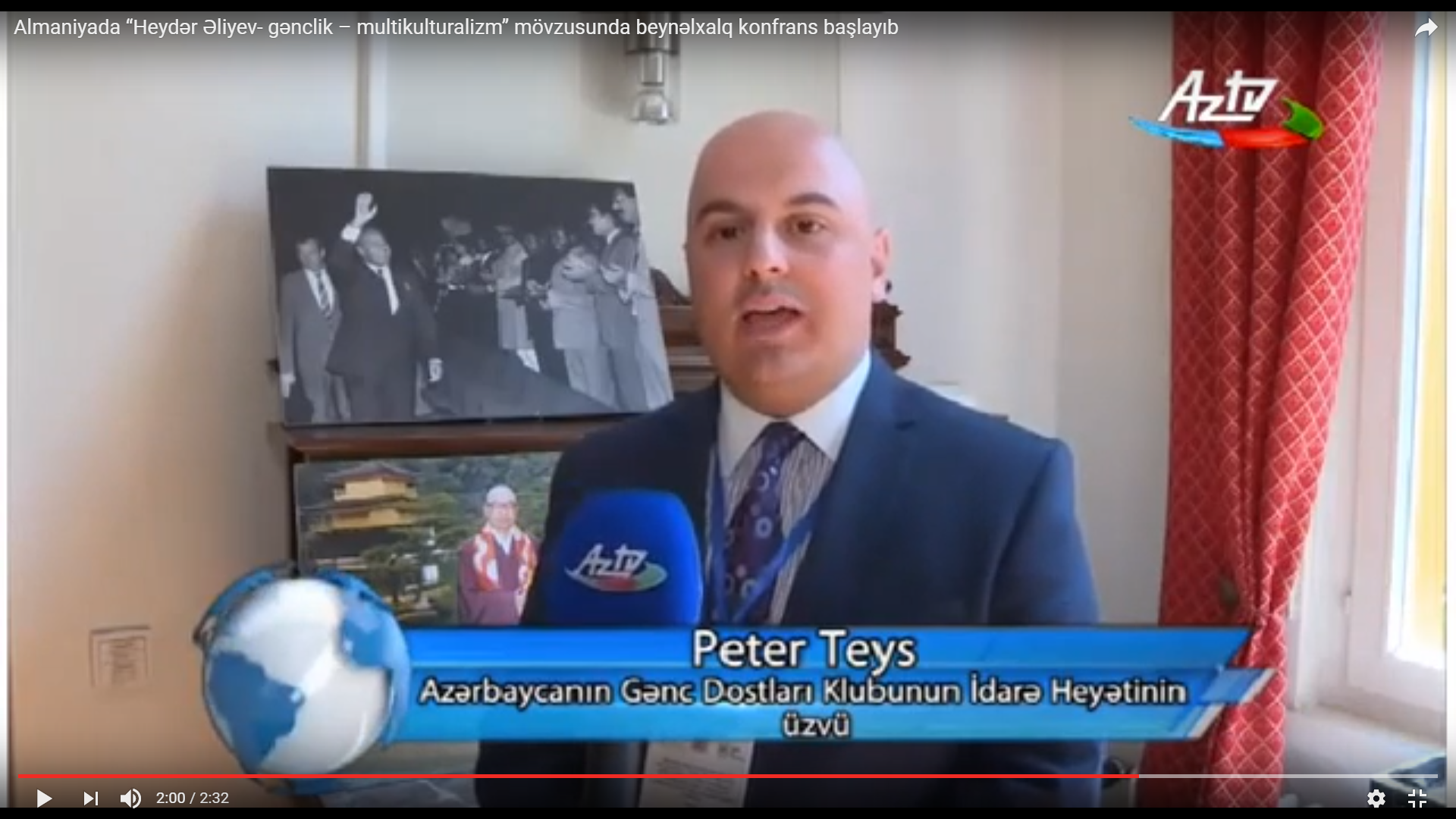 YOU TUB PETER TASE AT THE NATIONAL TV OF AZERBAIJAN. GERMANY, MAY 2017